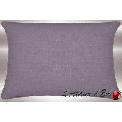 Lin lavé gris perle Coussin 60x30cm Tissu coton Thevenon