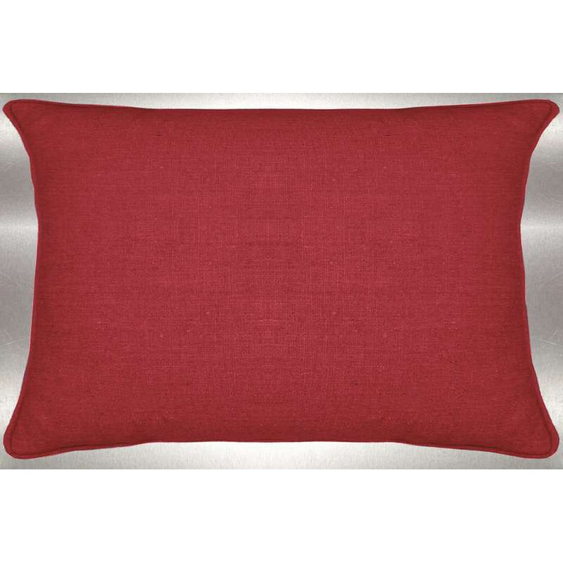 Lin lavé rouge Coussin 60x30cm Tissu coton Thevenon