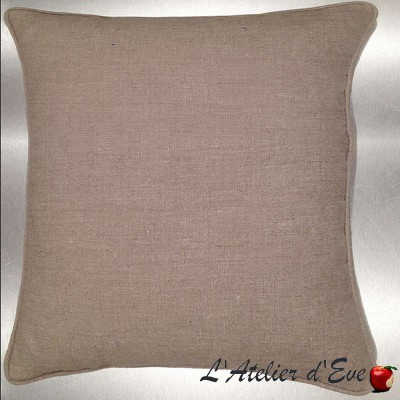 Linen washed your linen cushion/pillow case (2 dimensions) fabric cotton Thévenon