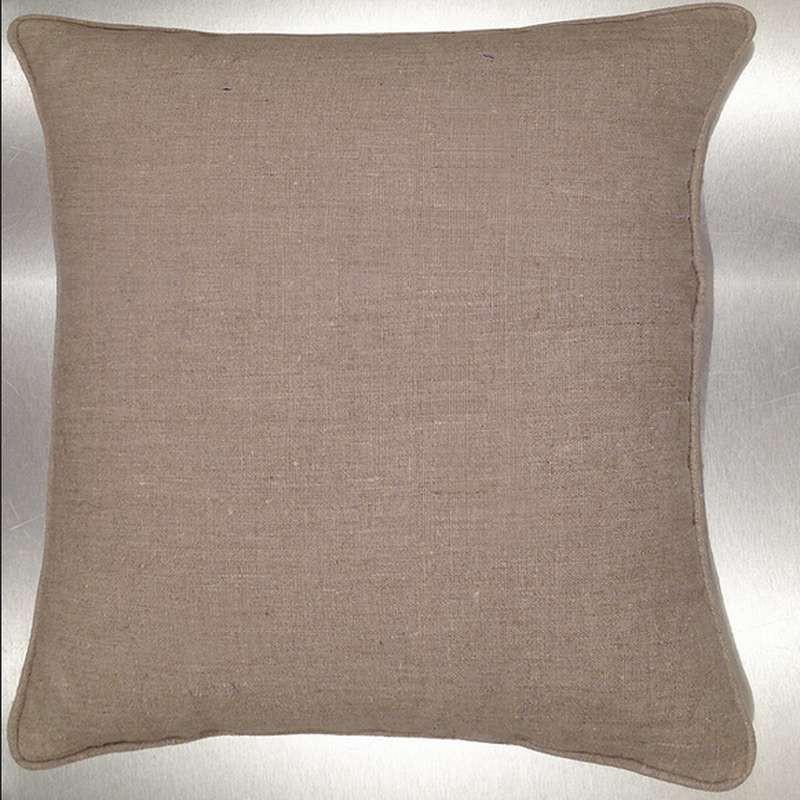 Lin lavé ton lin Coussin/taie (2 dimensions) Tissu coton Thevenon