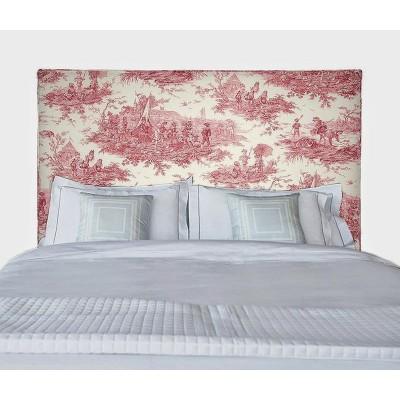 Vintage 4 tailles Tete de lit capitonnee Tissu toile de jouy Histoire d eau Thevenon