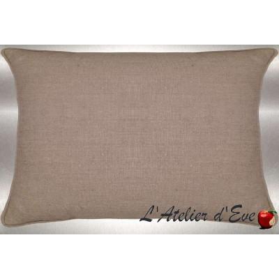 Linen washed your cushion fabric 60x30cm linen cotton Thévenon