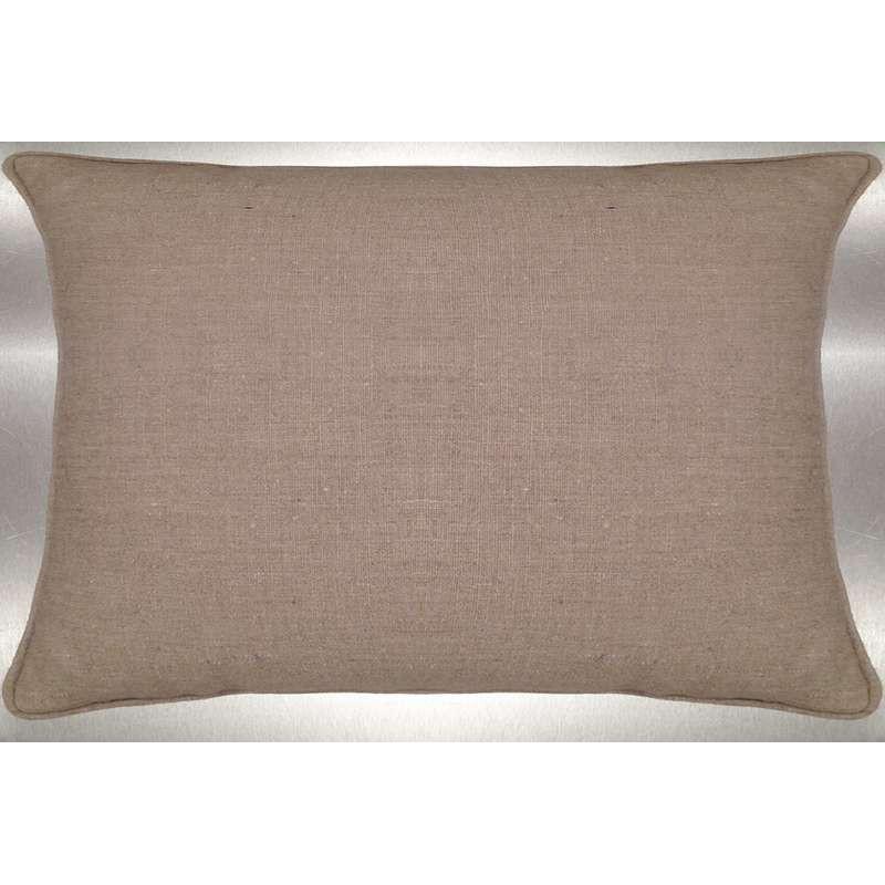 Lin lavé ton lin Coussin 60x30cm Tissu coton Thevenon
