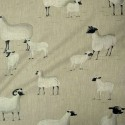 Pampas linen pattern sheep Thévenon