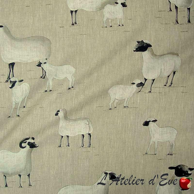 Tissu tapissier: toile de lin au mètre par Thevenon Paris