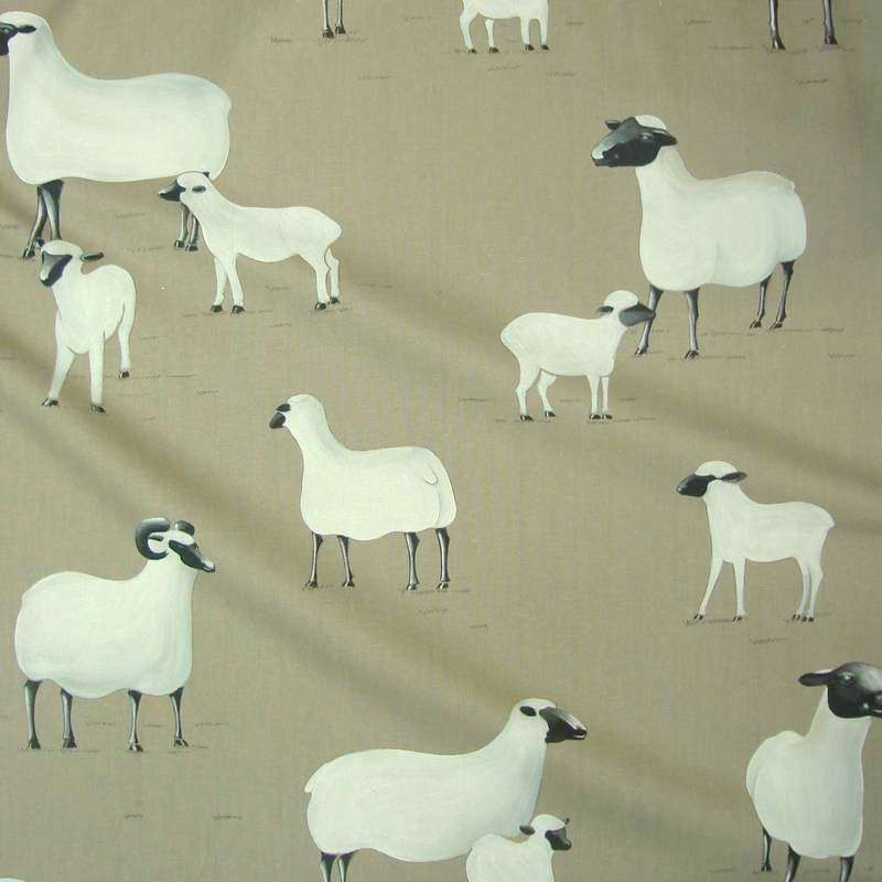 Pampa 2 colours furniture upholsterer large cotton bachette fabric width sheep Thévenon meter