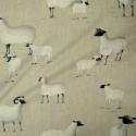 Pampa Rideau à oeillets prêt à poser toile de lin imprimée mouton Thevenon Le Rideau