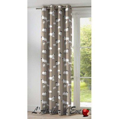 Pampa 2 colours curtain eyelet loan a has ask cotton curtain