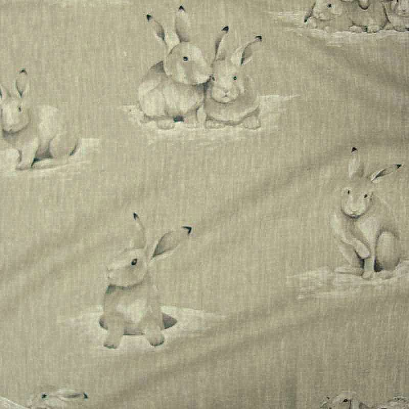 Lapinoux canvas upholstery pattern rabbits for seats Thévenon
