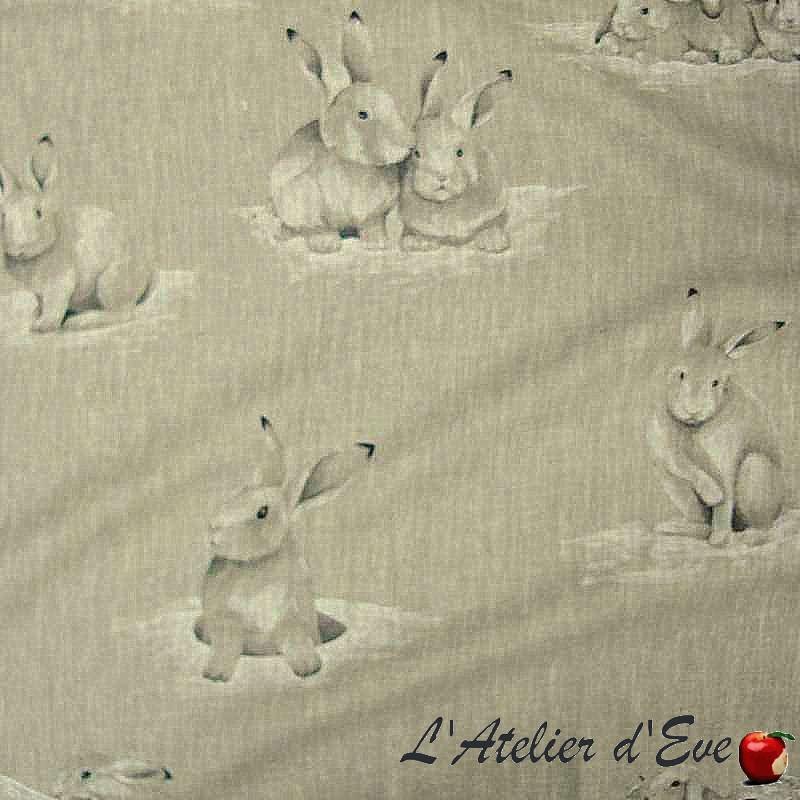 """Lapinoux"" discount 30% linen fabric Thévenon room/half room roll"