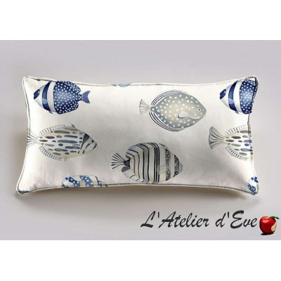 Copacabana cushion 60x30cm fabric cotton Thévenon