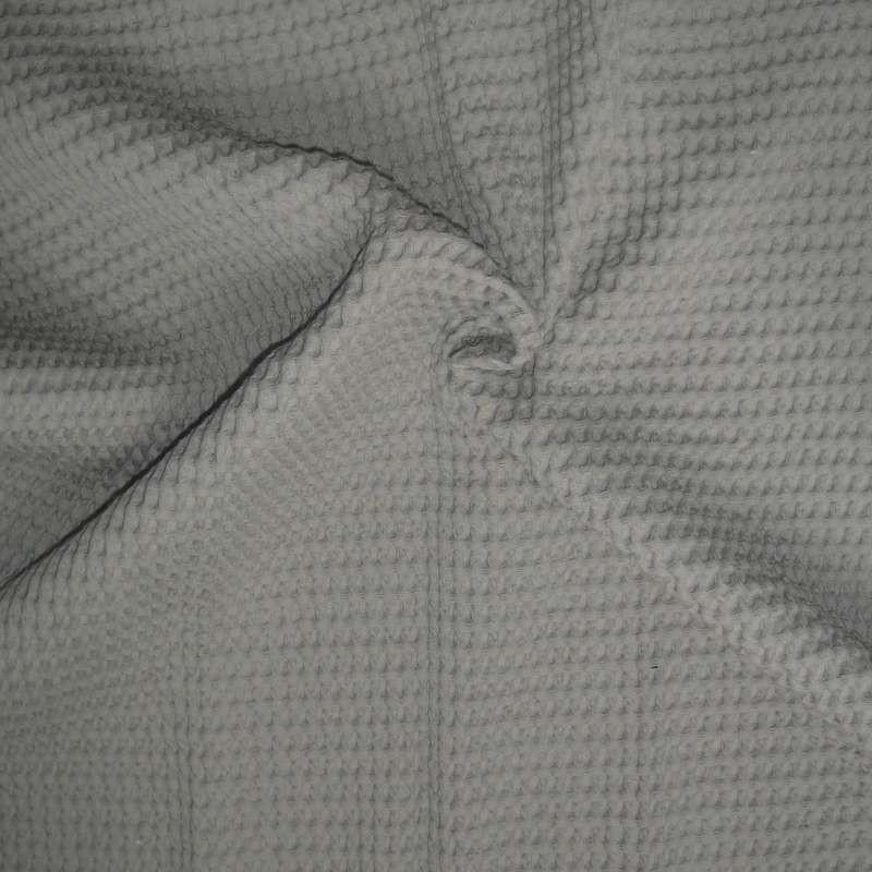 Baladib Piqué de coton gris grande largeur pour plaid, jeté de lit Thevenon