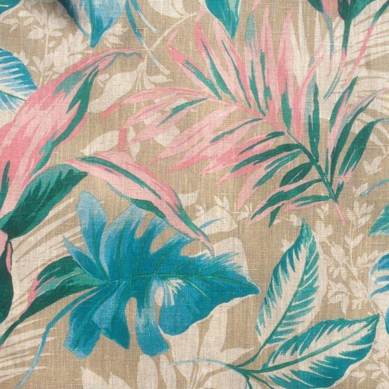 toile de lin fleurie pour si ges tapissier girolata. Black Bedroom Furniture Sets. Home Design Ideas