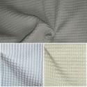 Baladi (3 coloris) Rideau à oeillets prêt à poser piqué de coton aspect gaufré Thevenon Le Rideau