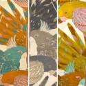 L'amazone (3 coloris) Toile ameulement grande largeur motif perroquets pour sièges Thevenon