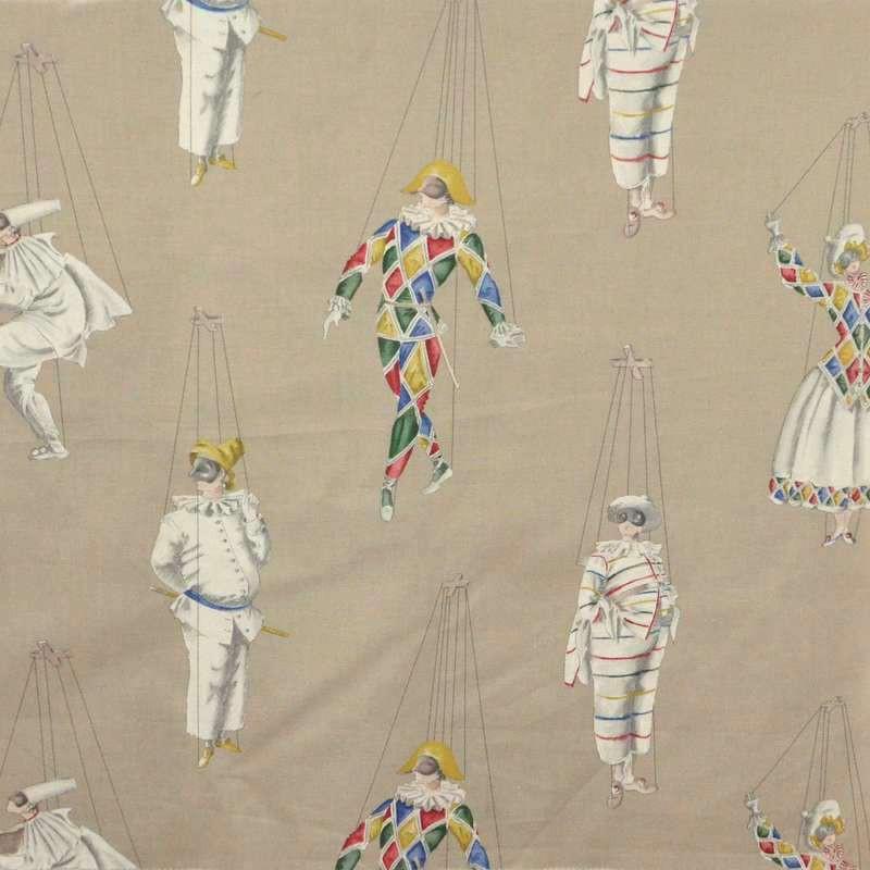 Jeu de mains: Tissu ameublement coton grande largeur fond ficelle pour sièges Thevenon