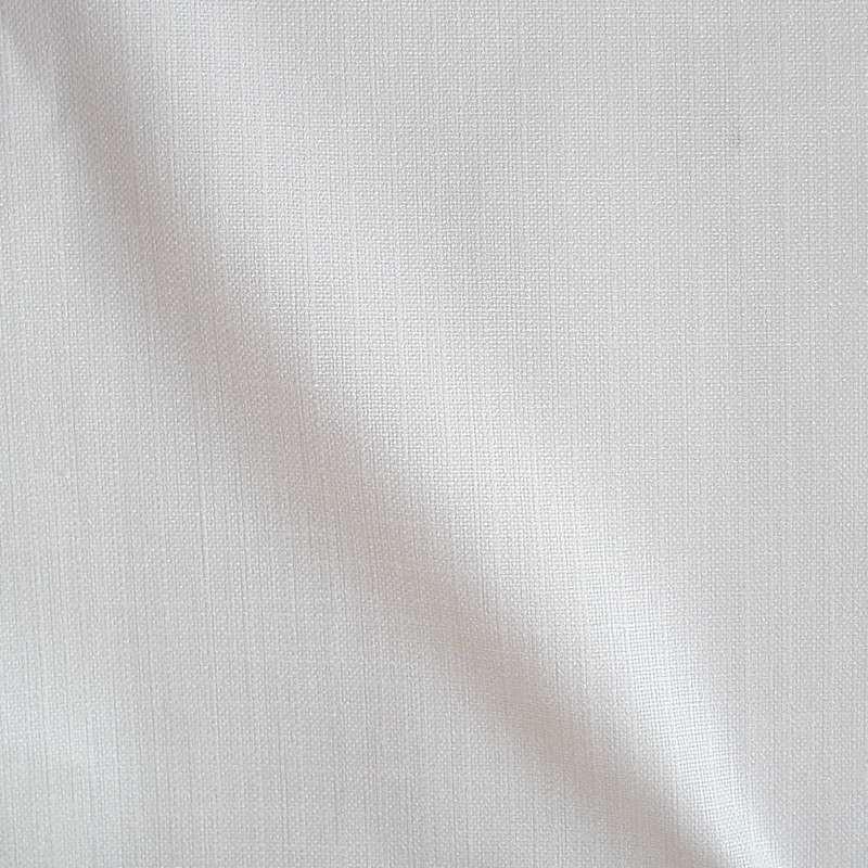 Kalila - Tissu ameublement sièges uni aspect lin blanc par Thevenon