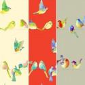 Happy birds (3 coloris) Tissu ameublement coton grande largeur pour sièges Thevenon