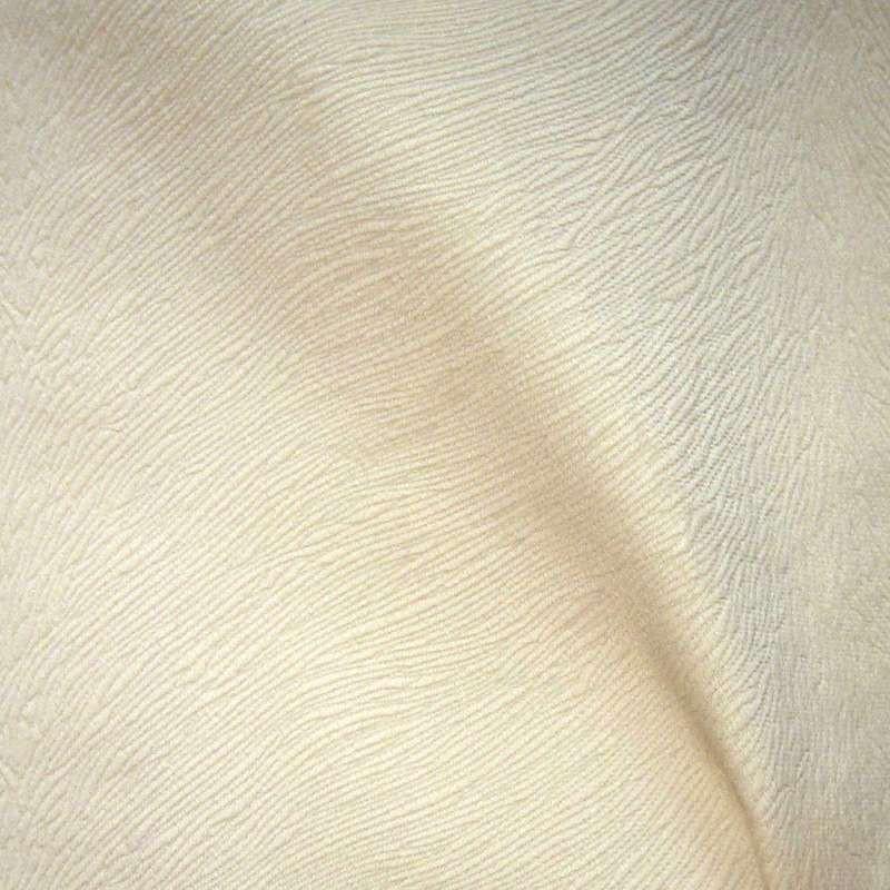 Sweet Skin: Tissu ameublement velours écru effet brossé Thevenon