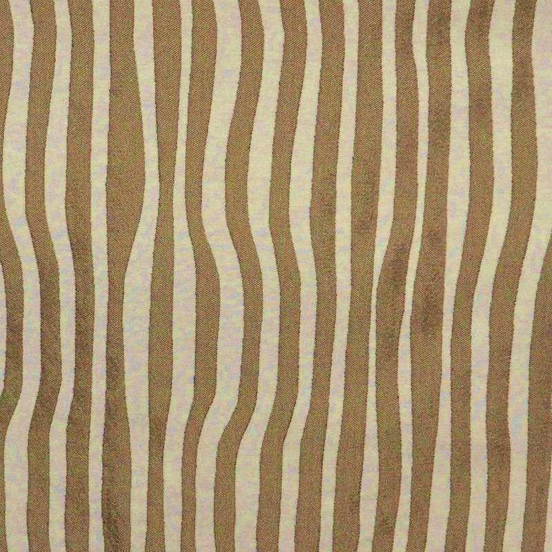 Surfliner Tissu ameublement jacquard rayure beige/crème Thevenon