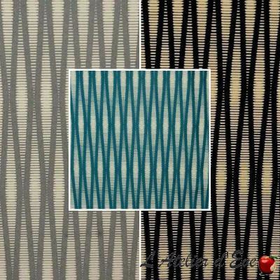 Pyxis (3 colors) fabric upholstery jacquard stripe Thévenon