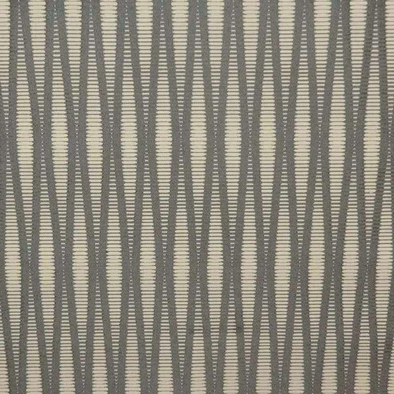 Pyxis crème fond gris Tissu ameublement pour sièges jacquard rayure Thevenon