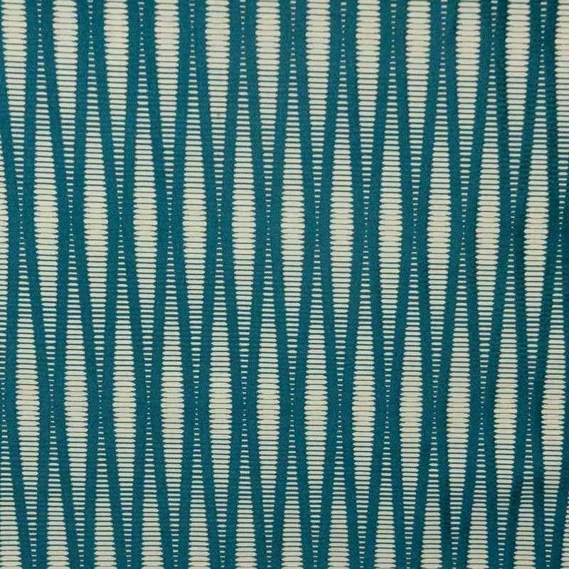 Pyxis crème fond bleu canard rideau à oeillets Made in France jacquard Thevenon