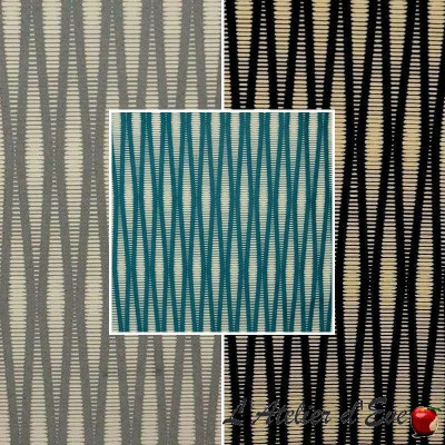 Pyxis (3 colours) curtain with eyelets Made in France Thévenon the curtain stripe