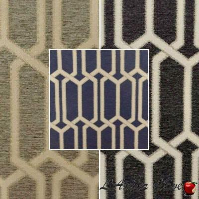 Makeover (3 colours) geometric jacquard upholstery fabric for seats Thévenon