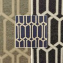 Makeover (3 colours) geometric jacquard upholstery fabric for seats Thévenon