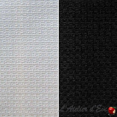 United Vísir (2 colours) curtain grommets Made in France effect braid Thévenon the curtain