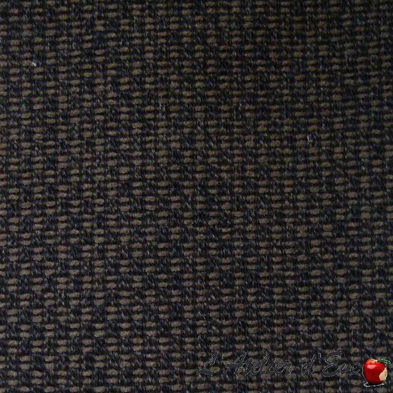 Visir chiné - Toile ameublement unie brun Thevenon