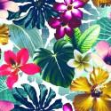 Cocktail Tissu ameublement percale coton fleuri Thevenon