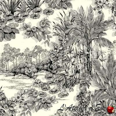 Eden Rouleau tissu ameublement motif végétal Thevenon Pièce/Demi-pièce