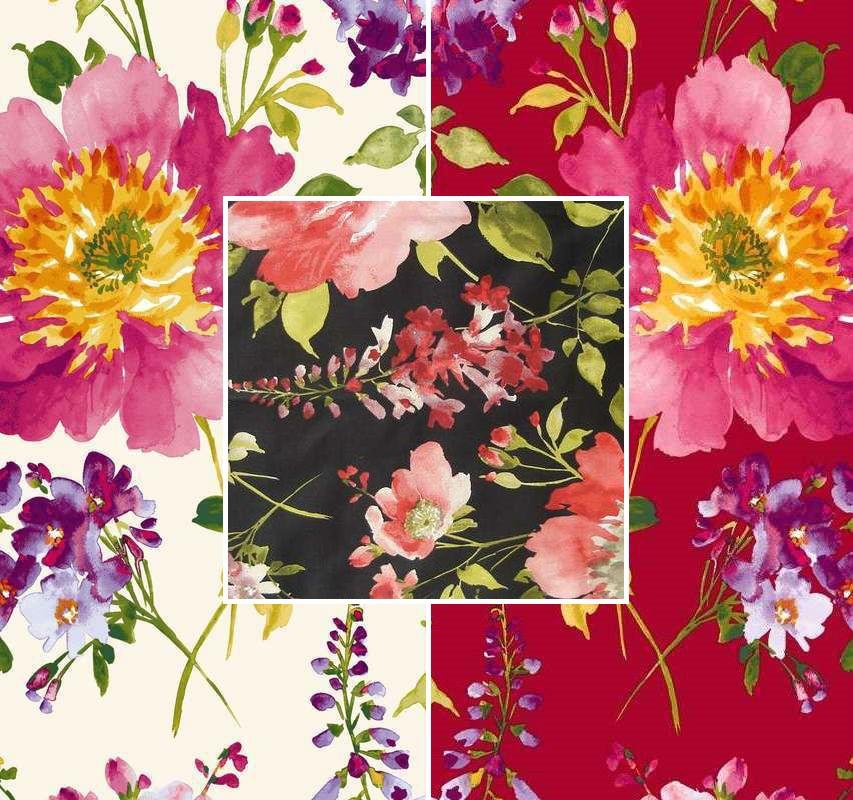 rideaux à oeillets: rideau fleuri pour ambiance romantique