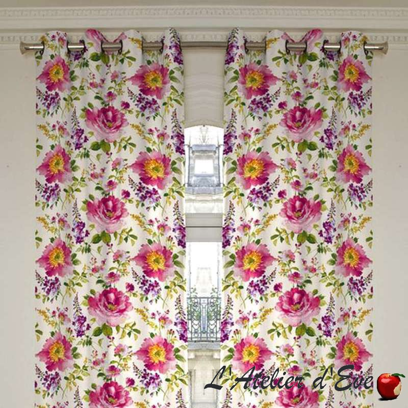 """I love you"" curtain satin Made in France Thévenon"