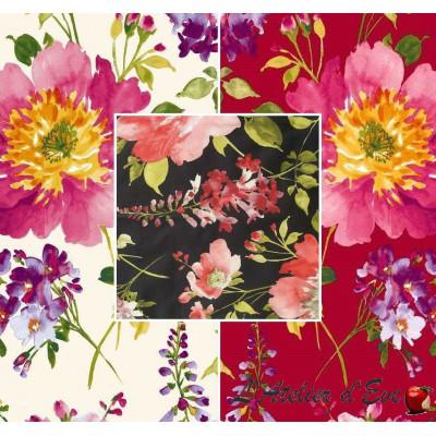 I love you (3 coloris) Rouleau toile de coton grande largeur fleurie pour ameublement et sièges Thevenon Pièce/demi-pièce