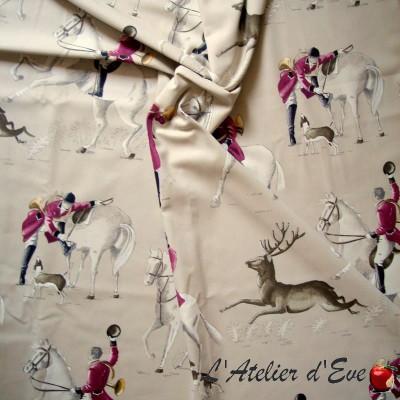 """Achat tissu en gros """"A courre"""" de Thevenon Paris"""