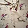 A Courre Tissu ameublement coton grande largeur fond grege Thevenon le metre