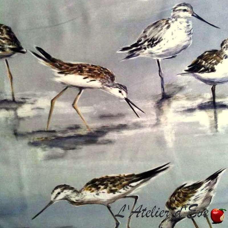 carnac-tissu-ameublement-coton-oiseaux-fond-gris-thevenon-paris