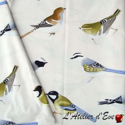 Caruso Tissu ameublement bachette coton grande largeur oiseaux Thevenon