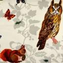 Dans les arbres Rideau a oeillets pret a poser coton Animaux fond naturel 1646620 le rideau