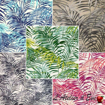 Palm Springs (5 colours) cotton furnishing fabric great width for seat Thévenon