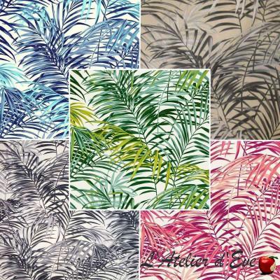 Palm Springs (5 coloris) Rouleau tissu ameublement coton grande largeur Thevenon Pièce/demi-pièce