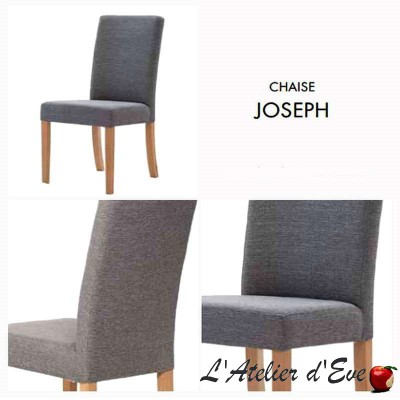 """Joseph"" Set of 2 chairs Thevenon fabric"