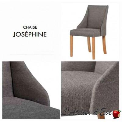 Joséphine Chaise confectionnée dans l'ensemble des tissus de la collection Thevenon Tissu code A