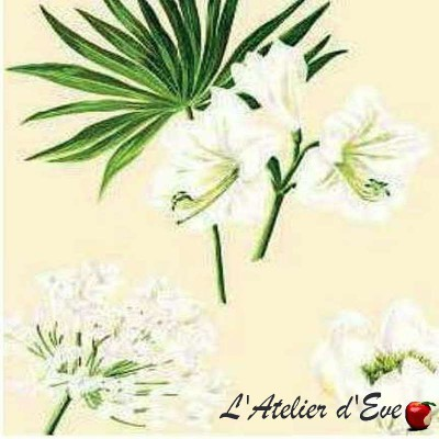 Leslie Tissu ameublement coton grande largeur fleuri Thevenon