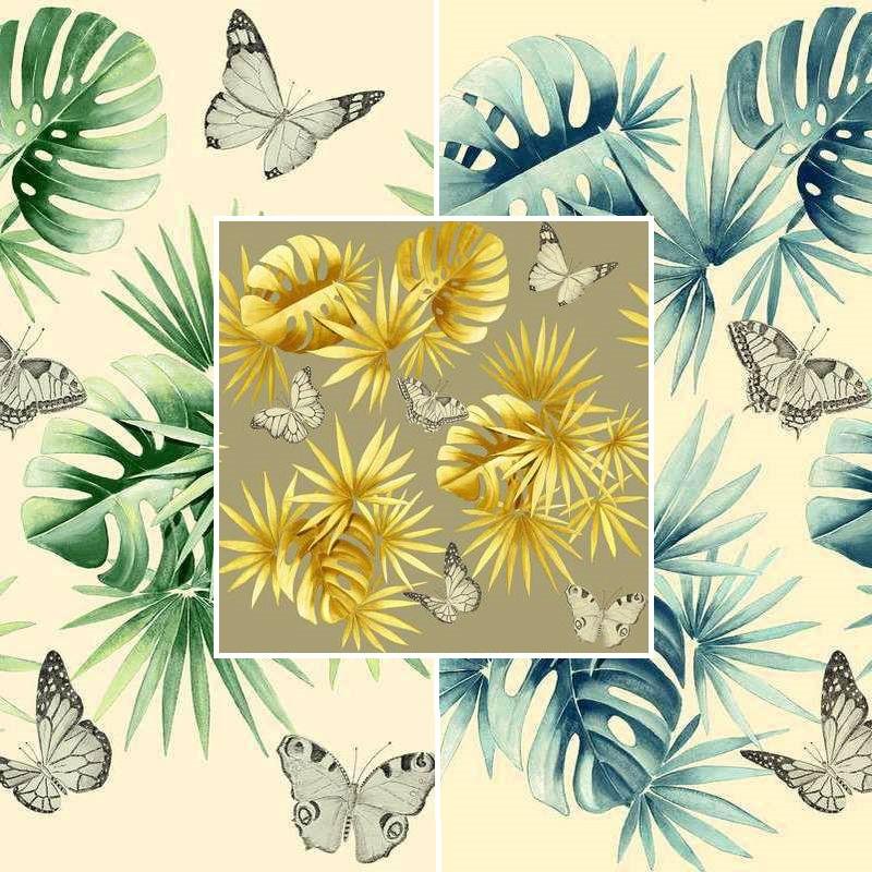 grossiste tapissier collection l le aux papillons thevenon. Black Bedroom Furniture Sets. Home Design Ideas