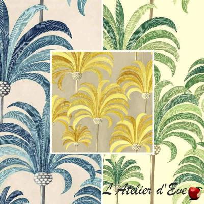 La palmeraie (3 coloris) Rouleau toile tapissier grande largeur Thevenon Pièce/demi-pièce