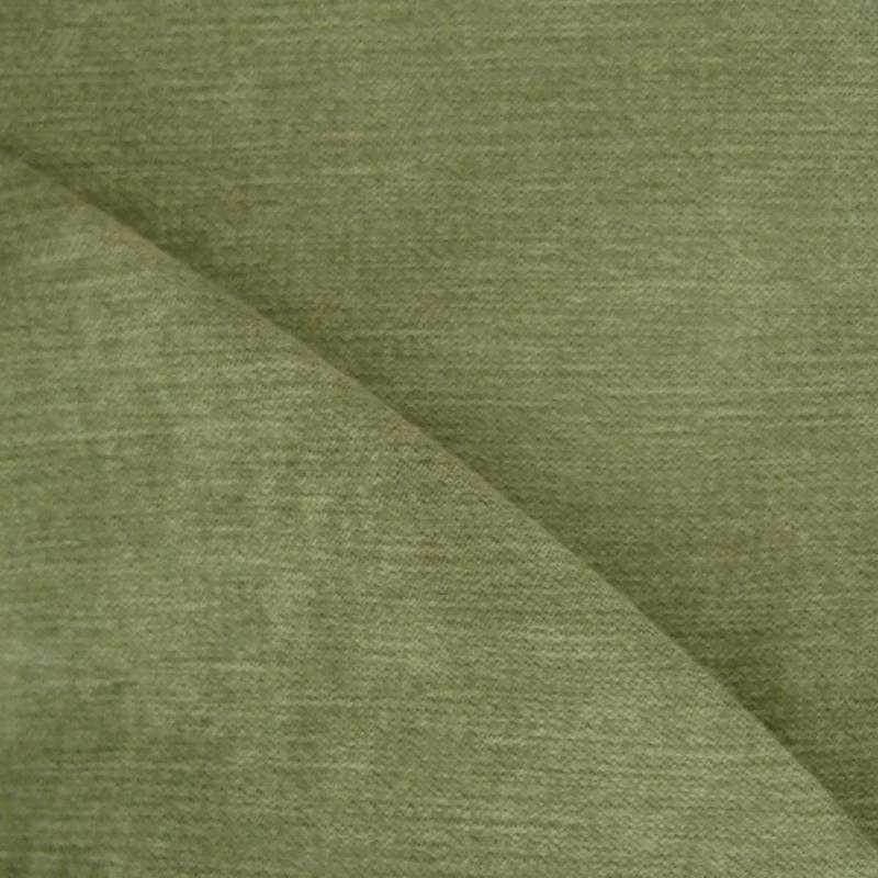 """Collection tissu ameublement velours uni """"Douceur"""" vert forêt de Thevenon Paris"""